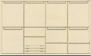 Armadi con ante scorrevoli : Armadio 4 ante scorrevoli in legno