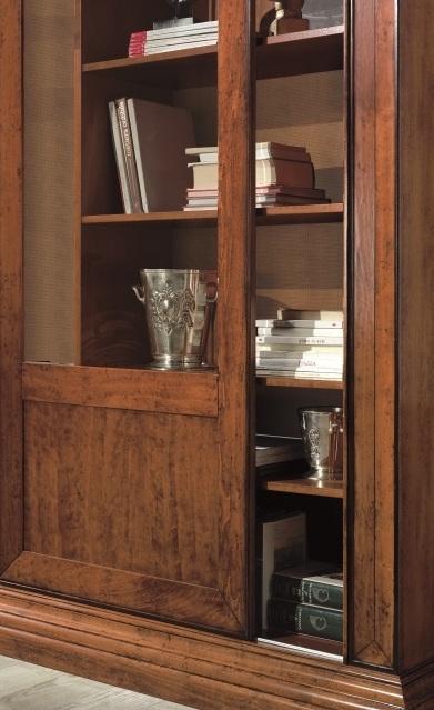 Libreria con ante scorrevoli in legno - Mobile libreria con ante ...