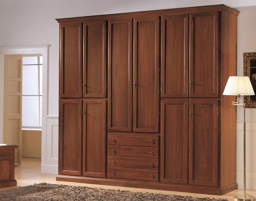 Armadio 10 porte in legno Arte Povera