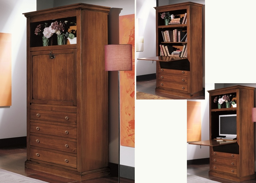 Complementi darredo : Armadio secretaire in legno Arte Povera