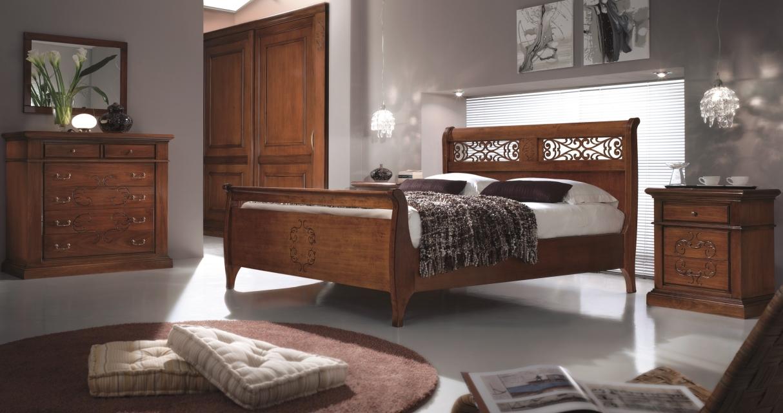 Camere da letto e camerette camera matrimoniale elisa in for Camera matrimoniale in legno