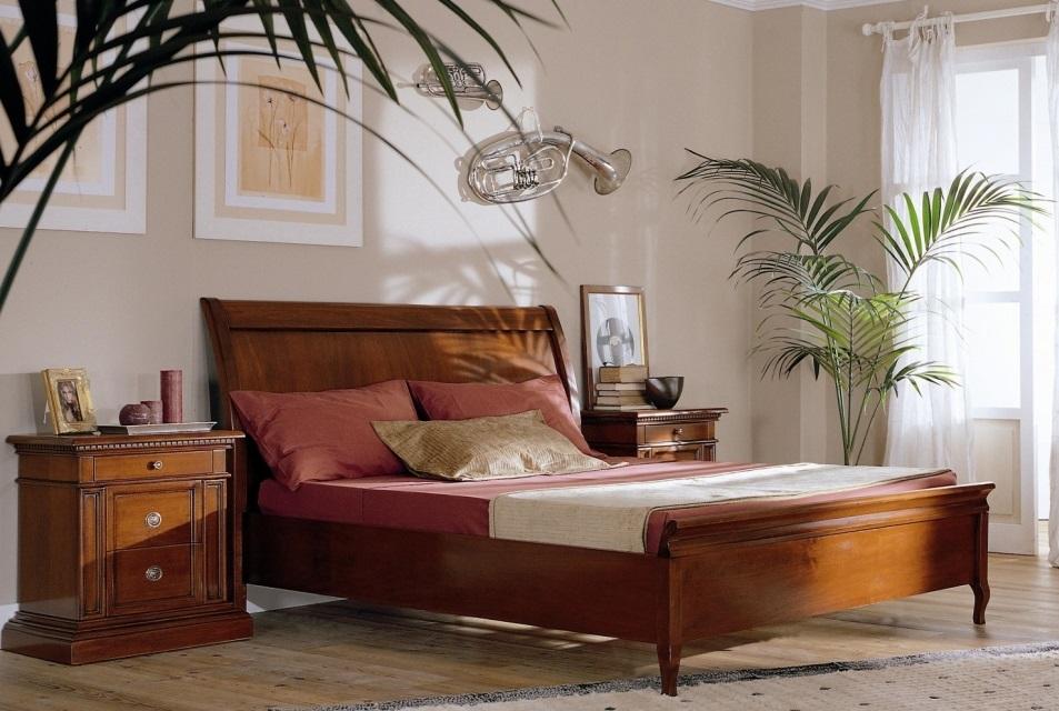 Letti in legno letto matrimoniale in legno testata liscia - Testata letto in legno ...