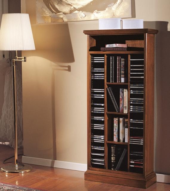 Porta CD/DVD in legno Arte Povera