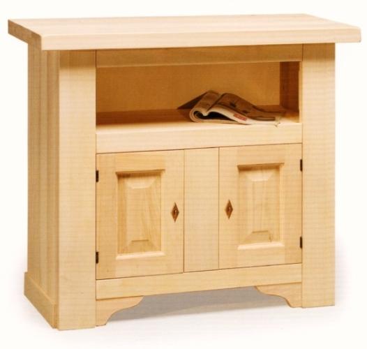porta tv rustico 2 porte in legno - Mobili Tv Rustici