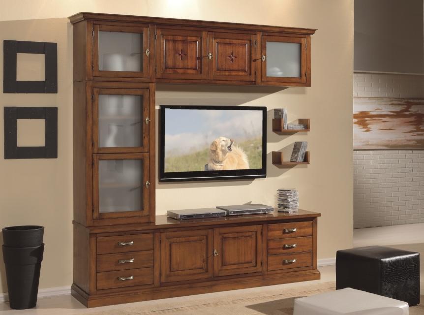 Soggiorni soggiorno componibile in legno for Piattaie arte povera