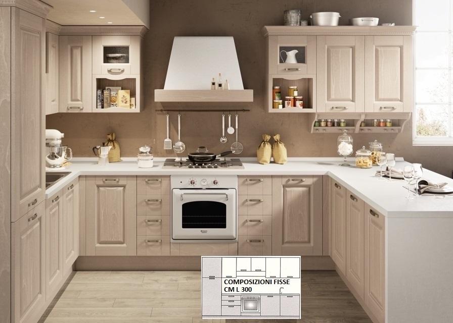 Cucine cucina classica modello carlotta - Lunghezza cucina ...