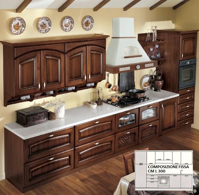 Cucine cucina classica modello elena - Composizione cucina ad angolo ...