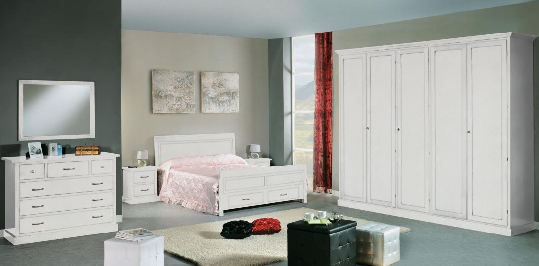 Camere da letto e Camerette : Camera matrimoniale laccata bianca