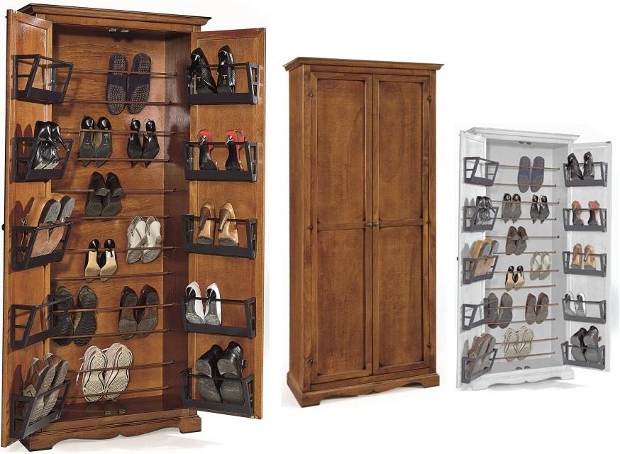 Scarpiere : Armadietto-scarpiera in legno 2 porte