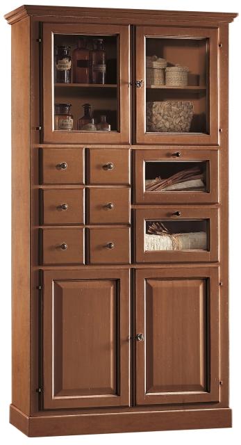 Dispensa 4 porte 8 cassetti in legno for Dispensa legno