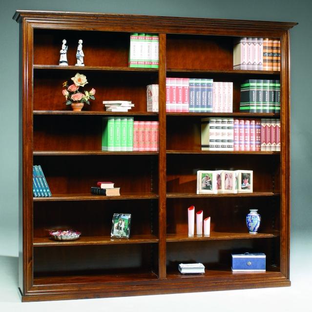 Librerie a schema fisso : Libreria a giorno in legno massiccio