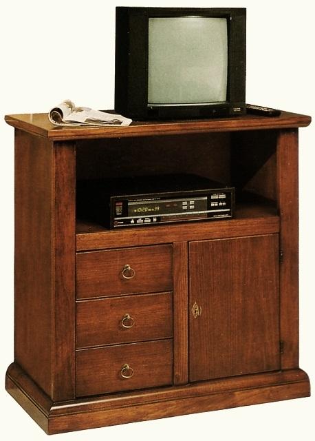 Mobili per TV : Porta TV in legno 1 porta Arte Povera