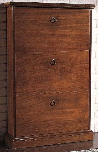 Scarpiere : Scarpiera 3 ribalte in legno Arte Povera