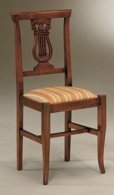 Sedie e Panche : Sedia Lira in legno seduta imbottita