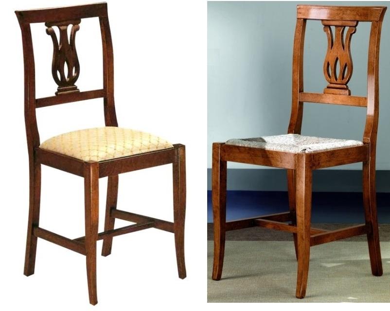Sedie In Legno Imbottite : Sedie e panche sedia tulipano in legno seduta imbottita