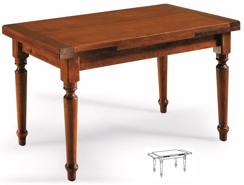 Tavoli rettangolari e quadrati : Tavolo allungabile in legno massiccio