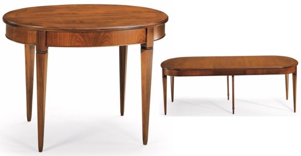 Tavoli ovali e rotondi tavolo ovale allungabile in legno for Tavolo ovale allungabile legno