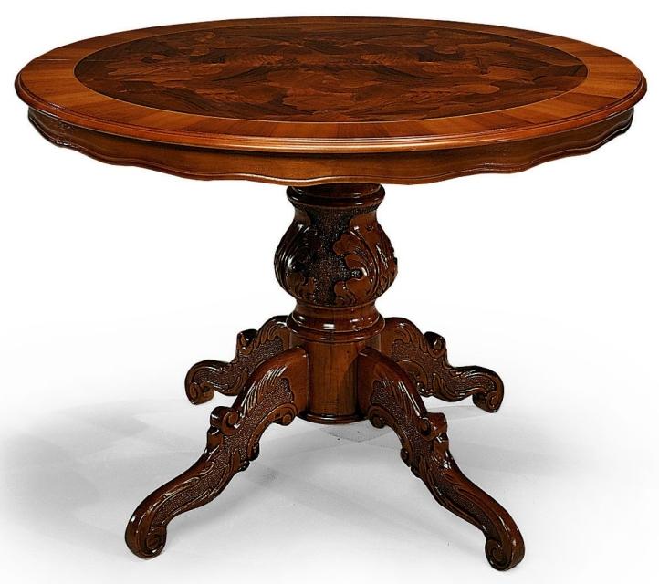 Tavoli rotondi e ovali tavolo rotondo allungabile in legno - Tavolo rotondo allungabile legno ...
