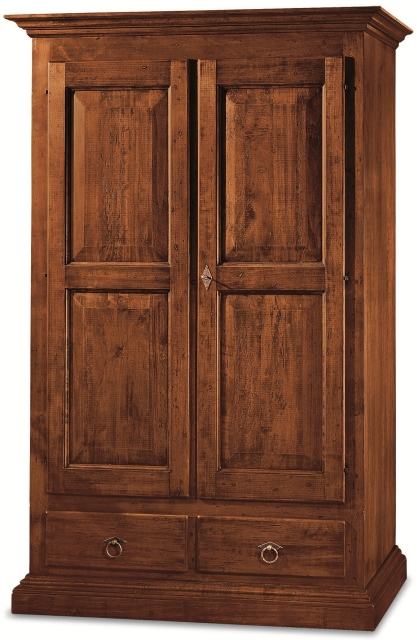 Armadi con 1 o 2 ante: Armadio 2 porte 2 cassetti in legno